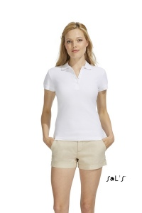 Polo femme blanc  210 grs SOL'S - Organic Reef