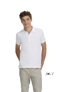 Polo homme blanc 210 grs SOL'S - Organic Reef
