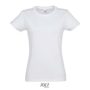 T-Shirt femme col rond blanc 190 grs SOL'S - Imperial