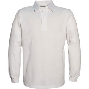 Polo rugby homme uni col blanc