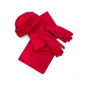 Set bonnet, écharpe et gants polaires