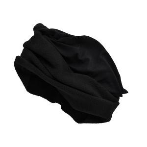 Foulard outdoor multiactivités noir, avec polaire noire