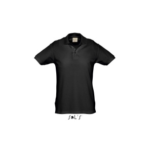 Polo homme noir - 210 grs SOL'S - Organic Reef