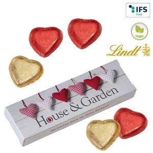 5 Coeurs de Lindt en boîte de cadeau