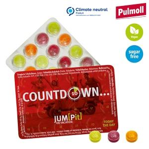 Blister évènementiel, bonbons Pulmoll