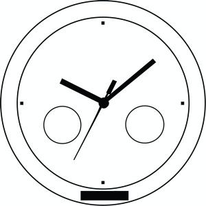 horloge cool time objet publicitaire newcom. Black Bedroom Furniture Sets. Home Design Ideas