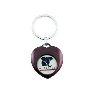 Porte-clés en zamac avec jeton métallique