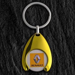 Porte-clés jeton attache métal