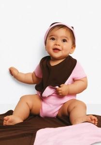 Bavoir bébé réversible Bella Canvas