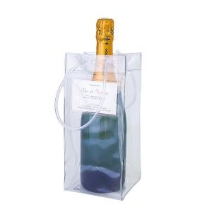 Objet publicitaire vin sac à bouteille ice bag transparent