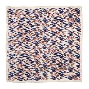 Foulard soie Onde Bleu