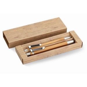 Coffret stylo et crayon en bambou