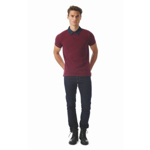 Polo homme 180 col denim - Forward Men