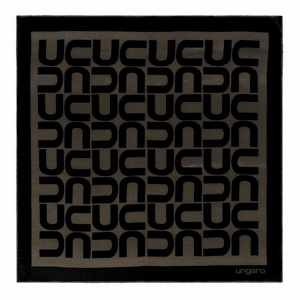 Foulard soie Monogramma Mini Black_brown