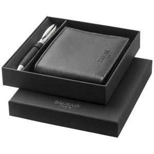 Coffret cadeau stylo à bille et portefeuille