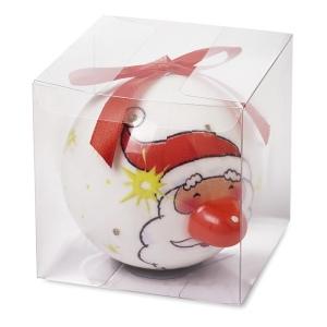 Boule de Noël de 8cm avec LED