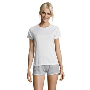 Tee-shirt femme manches raglan SPORTY WOMEN - blanc