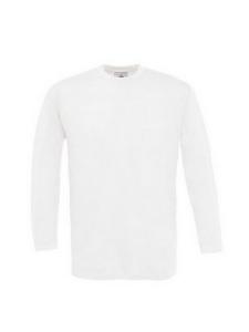 T-SHIRTS B&C Exact 150 LS-Blanc