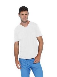 T-shirt col en V Gildan 64V00-Blanc