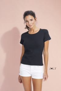 T-Shirt col rond blanc 220 g SOL'S - Lady rond