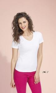 T-Shirt col V blanc 220 g SOL'S - Lady V