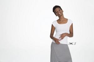 T-Shirt emmanchure américaine blanc 150 g SOL'S - Melrose