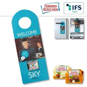 Accroche-porte/-rétroviseur publicitaire avec Ferrero Küsschen