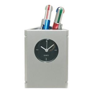 Horloge de table porte-stylo et cadres photo