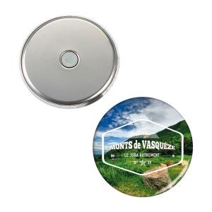 magnet button copie laser objet publicitaire newcom. Black Bedroom Furniture Sets. Home Design Ideas