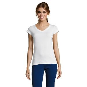 T-Shirt femme blanc 150 g SOL'S - Moon