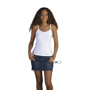 T-Shirt femme blanc 220 g SOL'S - Palma