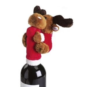 Cache-goulot pour bouteille de vin Moose