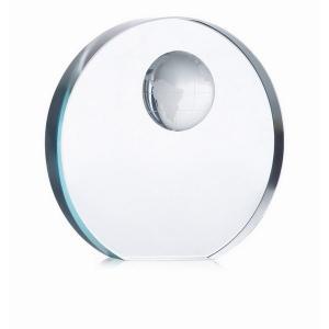 Trophée globe en verre