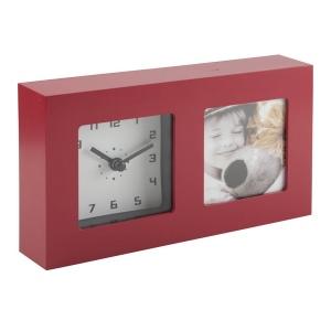 Horloge de bureau Twin avec cadre photo